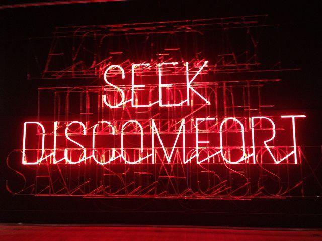 """seek discomfort"" — Design Exchange Toronto – Stefan Sagmeister"