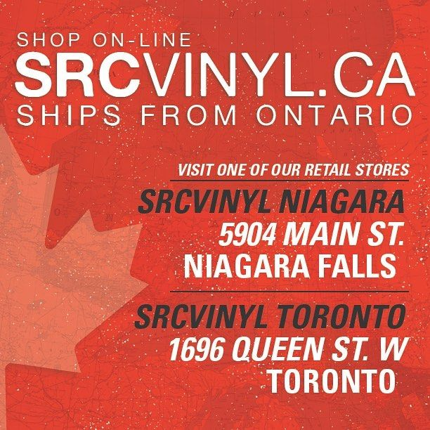 We are excited to launch srcvinyl.ca!!! In addition to our srcvinyl.com website which ships from Buffalo, NY we are now ALSO shipping from Canada! For those who wish to receive orders shipped from Canada you can now shop online here:  www.srcvinyl.ca – SHIPS FROM CANADA, in Canadian Dollars  www.srcvinyl.com – SHIPS FROM USA, IN US Dollars  Note, you can LOG INTO BOTH SITES USING YOUR srcvinyl.com LOGIN AND PASSWORD! New accounts are NOT needed.  To celebrate the launch of srcvinyl.ca we…