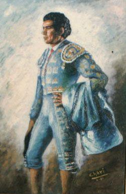 """El torero español Paquirri""  Cuadro pintado al Óleo por Chari González"