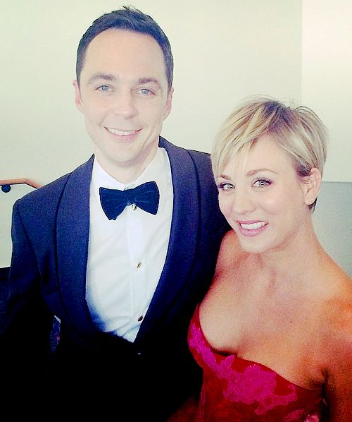 bigbangsheldon: Jim and Kaley at the Emmys