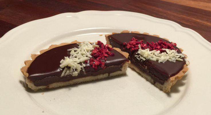 Chokoladetærter med ganache