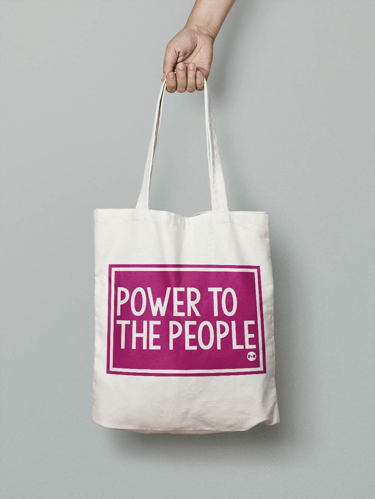 Power To The People #feminist #activist #resist #totebag #carryall #holdall #shopper #girlpower #tote #giftforher #christmaspresent #equality #pirateandblue