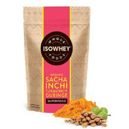 Isowhey Wholefoods Sacha Inchi Turmeric + Gubinge Powder is a delicious organic superfood.  Isowhey Wholefoods Sacha Inchi Turmeric + Gubinge can be added to Isowhey shakes for extra goodness.