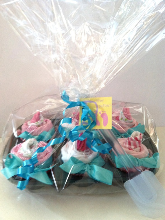 Onsies and socks - cup cake baby gift - so cute