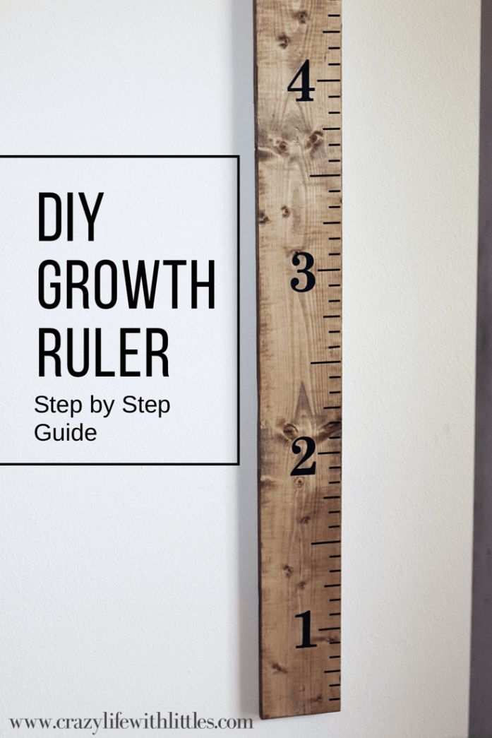 DIY Growth ruler for kids! Such a fun way to keep track of children's height.