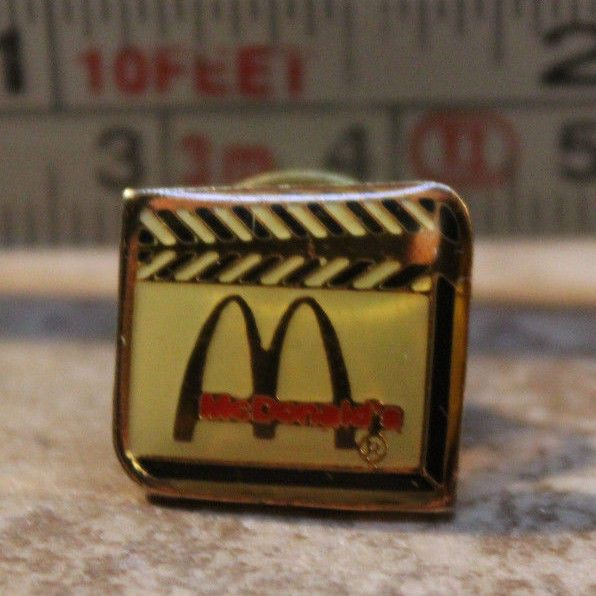 Details about McDonalds Movie Film Set Clacker Board Employee Collectible Pinback Pin Button