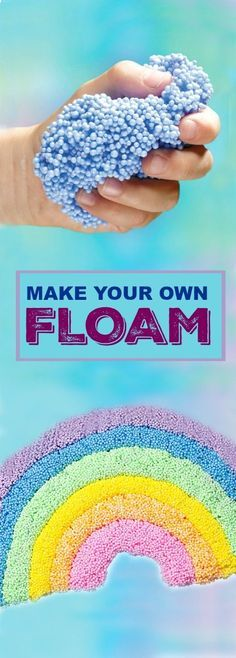 DIY Craft: FLOAM- the most fun play material ever! Make your own with this easy recipe.