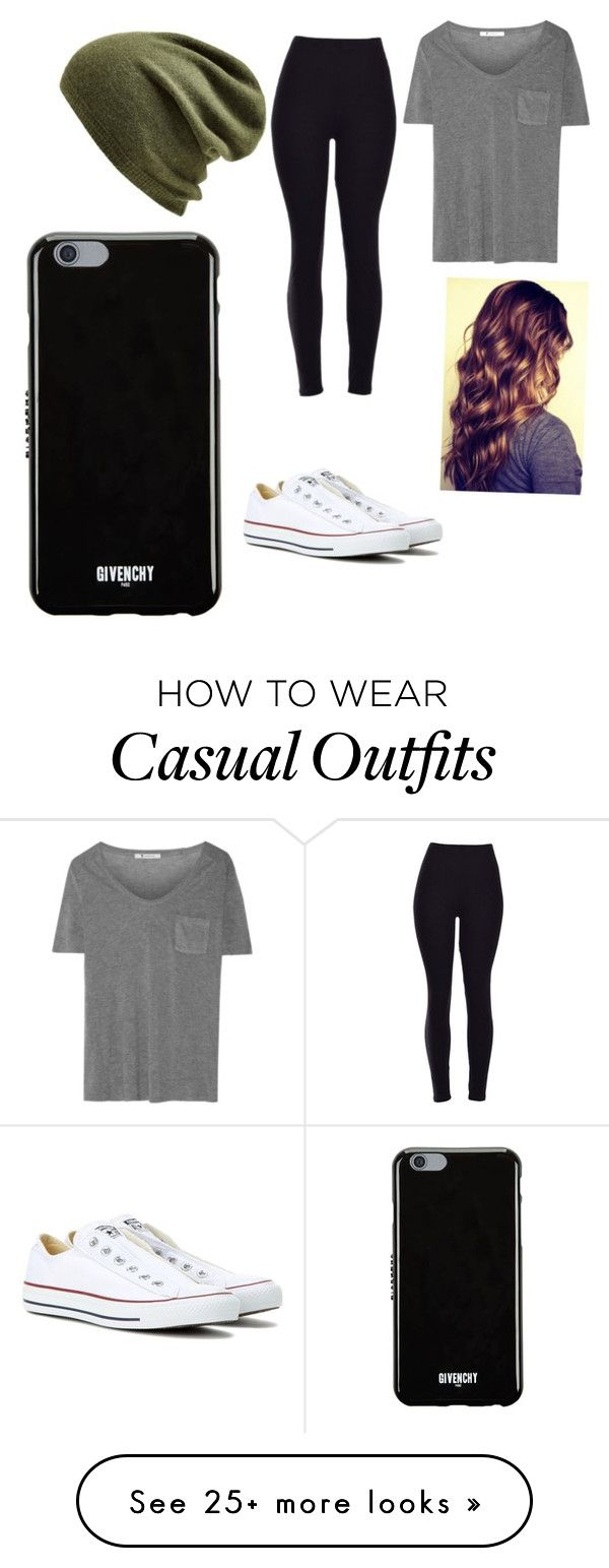 """""""Casual"""" by ellundgren on Polyvore featuring Echo, T By Alexander Wang, Converse and Givenchy"""
