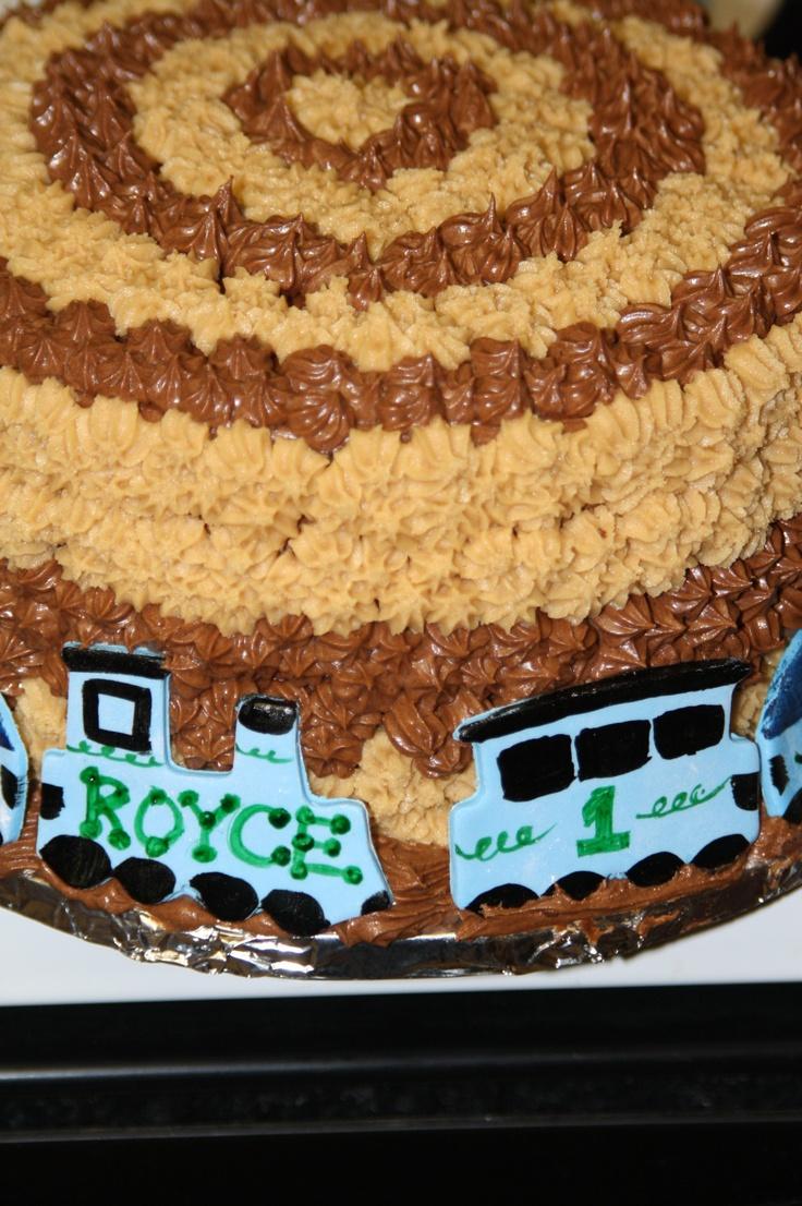 Childrens Simple Chocolate Train Cake