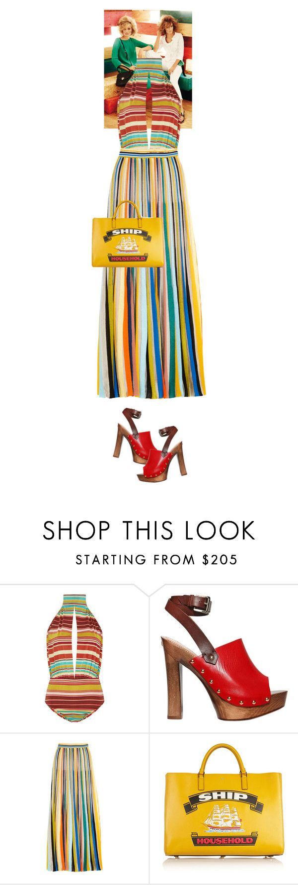 """""""Katerina Blythe #6050"""" by canlui ❤ liked on Polyvore featuring MaxMara, Salinas, Dsquared2, Missoni and Anya Hindmarch"""