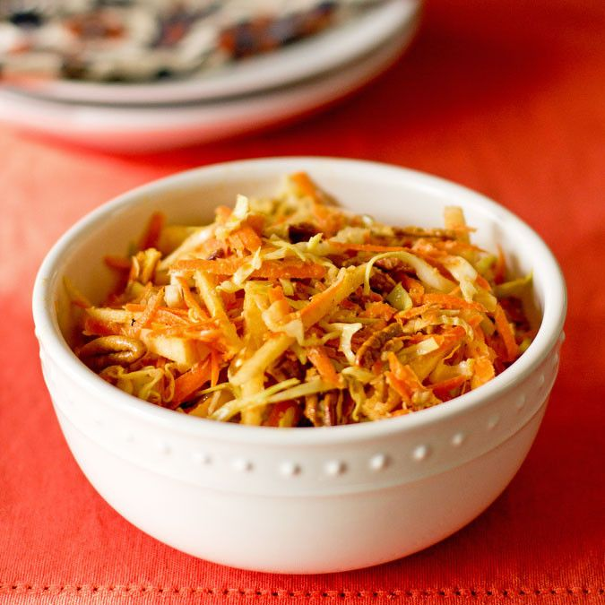 Apple, Carrot, Pecan Curried Slaw | Delicious things | Pinterest