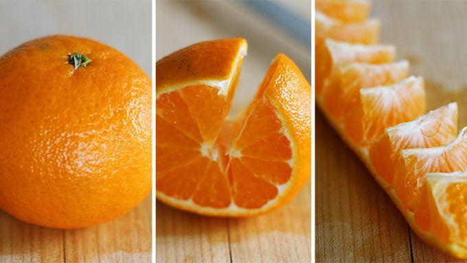astuce pour peler une orange