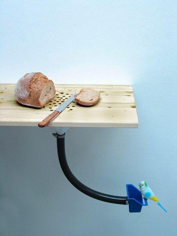 Cutting Board Bird Feeder by Curro Claret