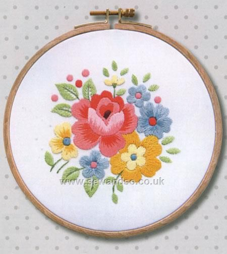 Spring Floral Bouquet with Frame