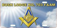 Custom Masonic License Plate