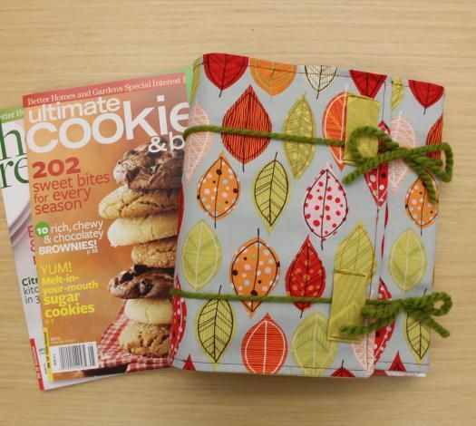Protect cookbooks--and add some style to your kitchen--with a fun book cover.