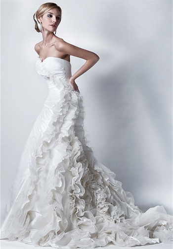 12 best favorite flowers images on pinterest beautiful for Peacock feather wedding dress vera wang 2009