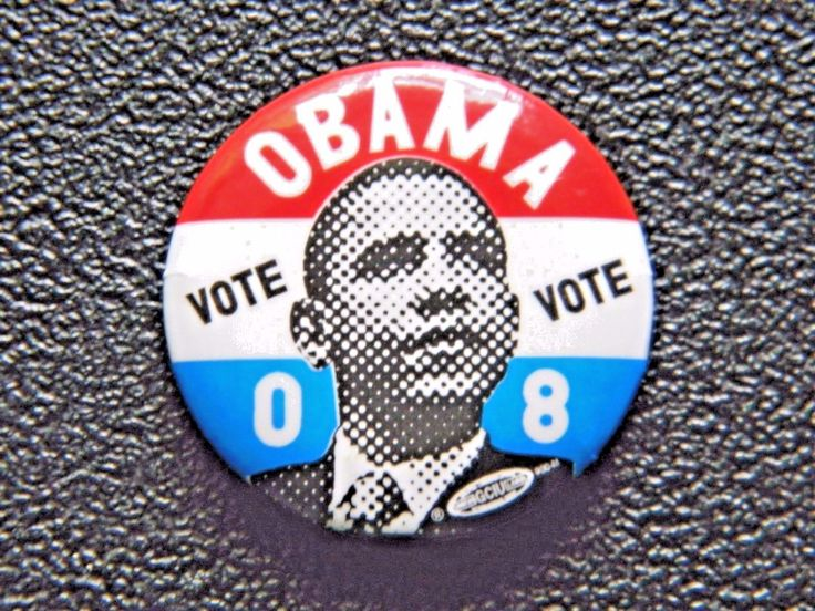 Barack Obama: Barack Obama 2008 Presidential Campaign Vote Button Retro Pin Metal -> BUY IT NOW ONLY: $4.5 on eBay!