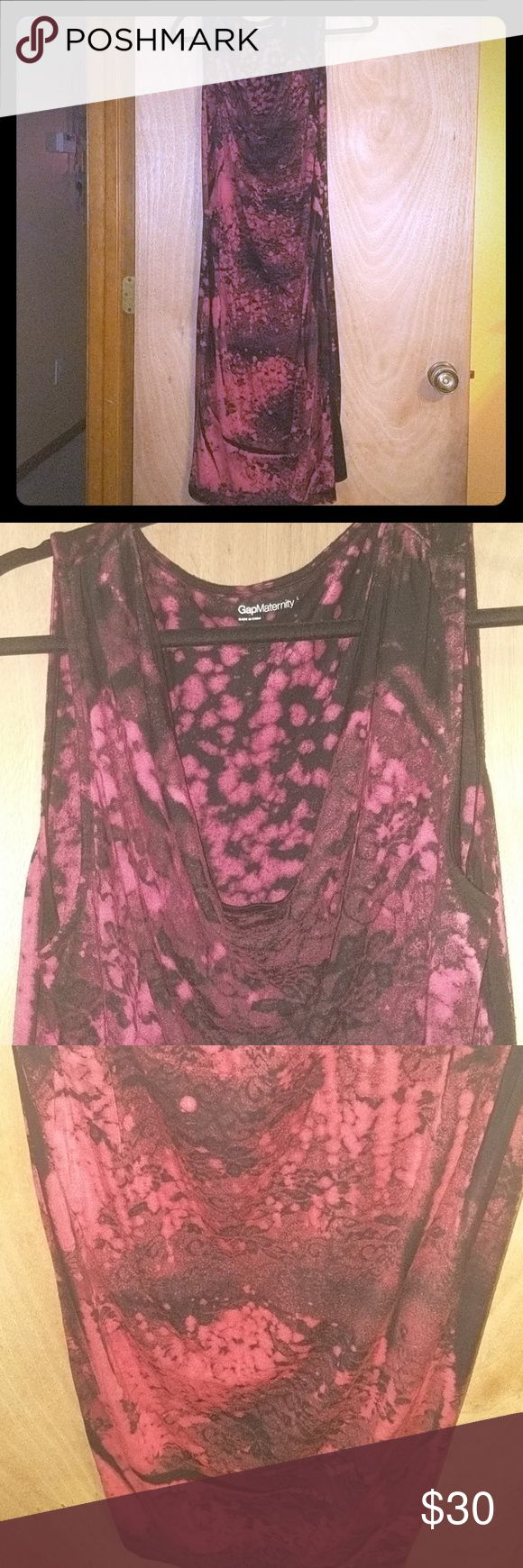 Magenta Maternity Dress Gorgeous magenta design. Great condition. Comfortable and flatters off curves. GAP Dresses