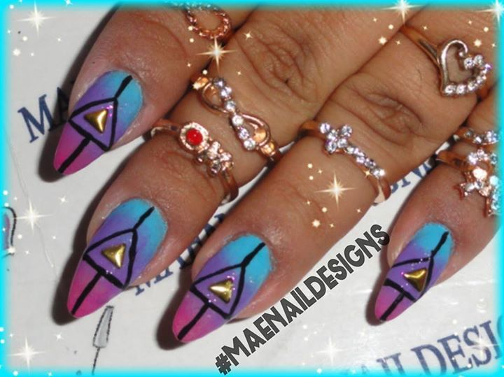 ENA17: Triangle Abstract & Ombre!  Tutorial here http://youtu.be/oV6UPrLuPsM
