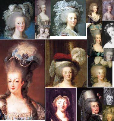 Maria Antonieta, la última reina de Francia y apasionada de la moda. Sus peinados fueron legendarios.