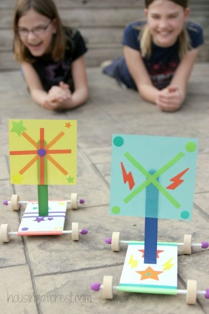 Experimenting with Wind Power ~ Wind Powered Cars