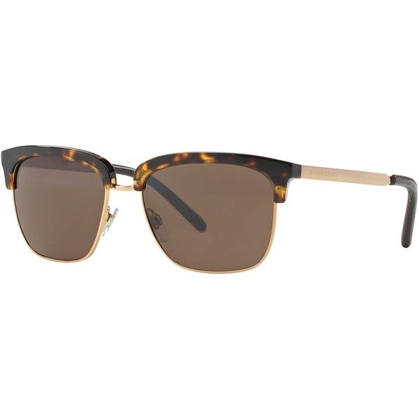 Burberry Rimless Glasses : Burberry BE4154Q Semi-Rimless Sunglasses, Havana (USD325 ...