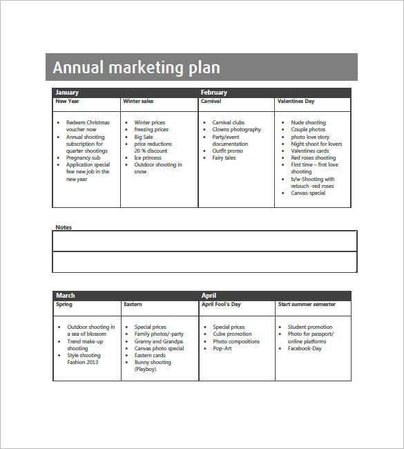 Marketing Plan Sample