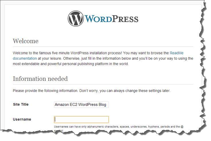 Tutorial: Hosting a WordPress Blog with Amazon EC2 - Amazon Elastic Compute Cloud