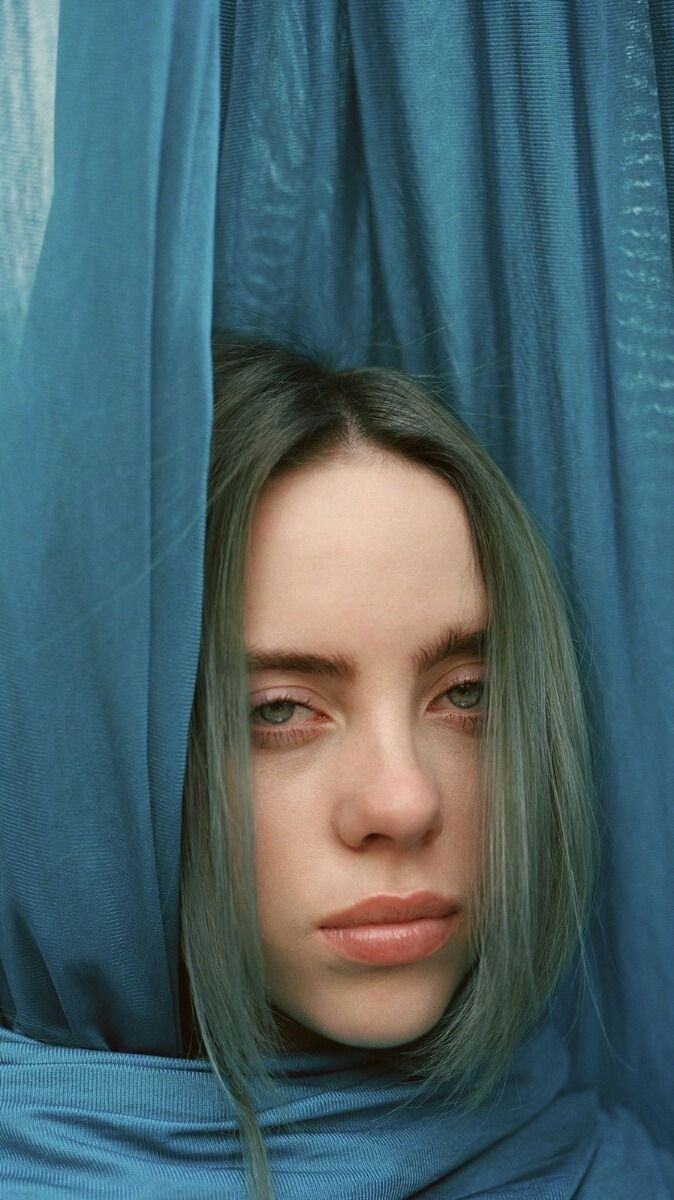 Billie Eilish Wallpaper Green Hair Head Billie eilish