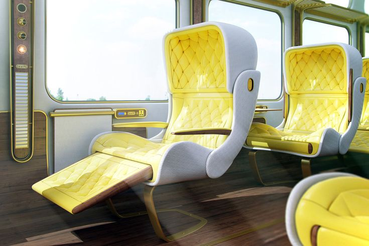 Christopher Jenner's Eurostar Interior Design Project. Concept for train interiors.
