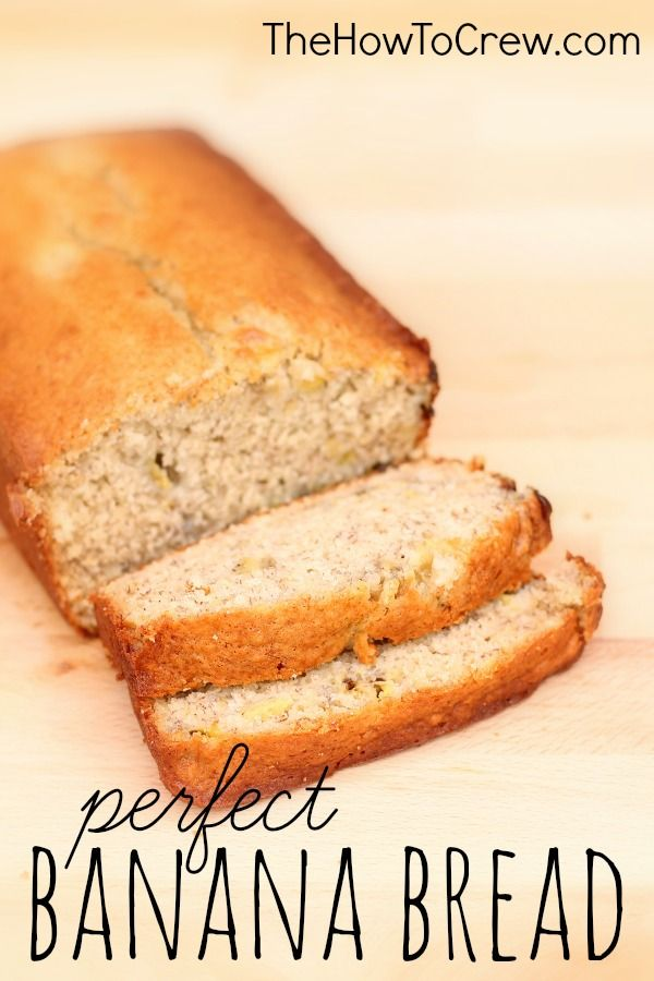 How-To Make Perfect Banana Bread from TheHowToCrew.com.  So easy to make and my family can't get enough of it! #recipes #banana #bread