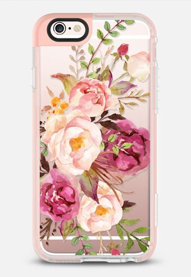 Casetify iPhone 7 Case and Other iPhone Covers - Watercolour Floral Bouquet…