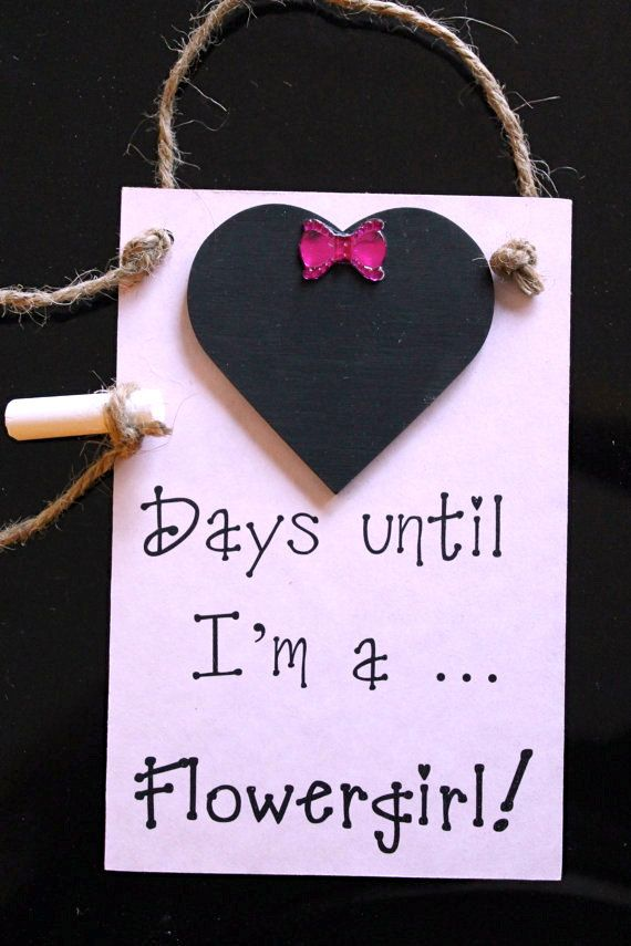 "Flower Girl (Bridal Party) Chalkboard Countdown ""Days Until .. I'm A Flower Girl!"" , Invite your flower girl with this chalkboard countdown Engagement Gift"