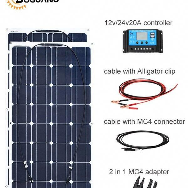 Boguang 200w Flexible Solar Panel Cell Module System Rv Car Marine Boat Home Use Wish In 2020 Solar Panels Solar Energy Panels Flexible Solar Panels