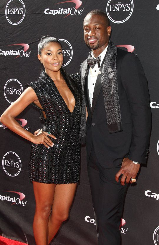 Gabby Union & D Wade looked dapper in black at the ESPYs