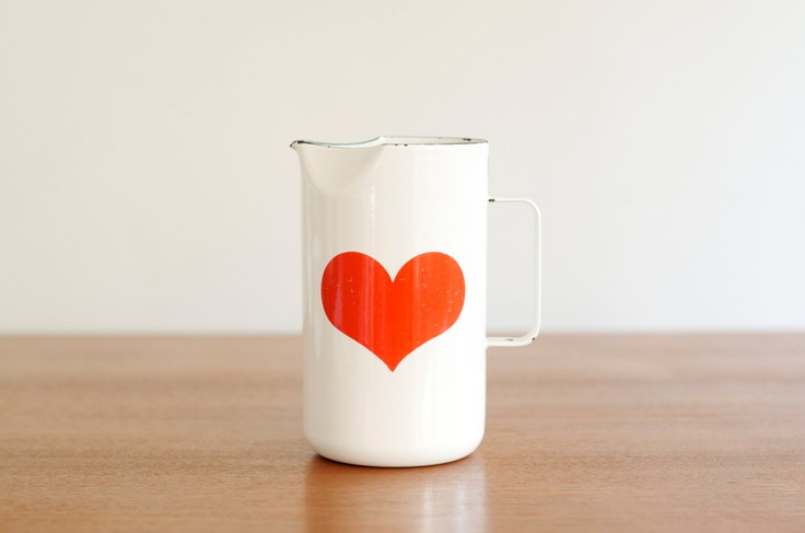 Kaj Franck Enamel Heart Pitcher -