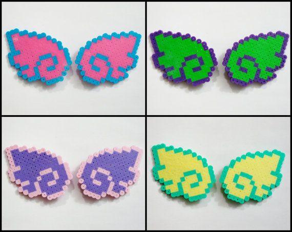 2pc Angel Wings HAIR CLIPS // Pastel Goth Sweet Lolita Kawaii Angel Wings // Perler Hama Fuse Beads // (Pick COLOR) by RainbowMoonShop on Etsy