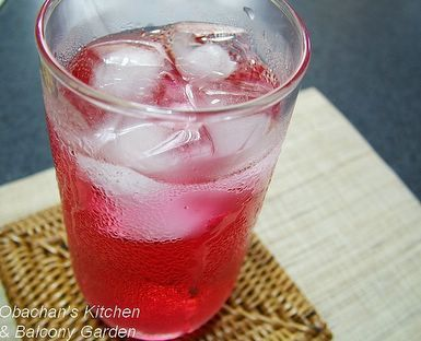 Obachan's Kitchen & Balcony Garden: Home-made Shiso Drink: Obachan Kitchens, Balconies Gardens, Drinki Pooo, Shiso Drinks, Balcony Garden, Shiso Teas, Home Mad Shiso, Home Made