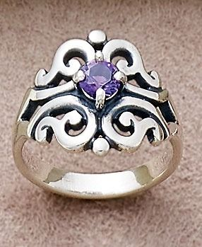 Spanish Lace Ring with Amethyst #JamesAvery