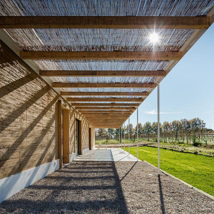 blaanc's vineyard house is clad with rammed earth façades