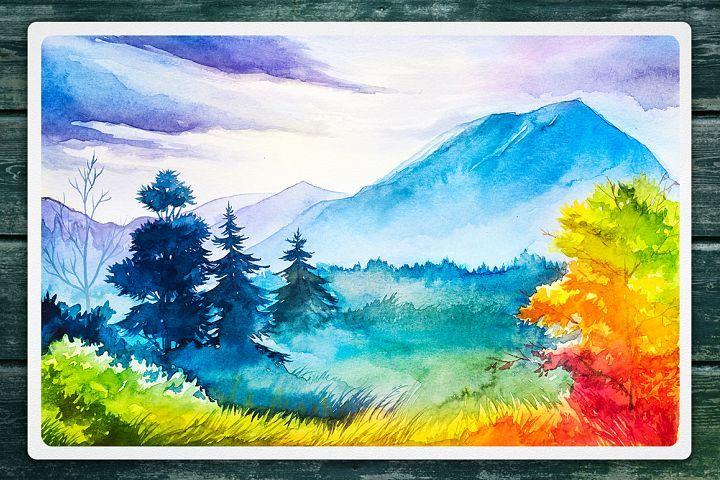 Autumn Watercolor Landscapes In 2020 Watercolor Landscape