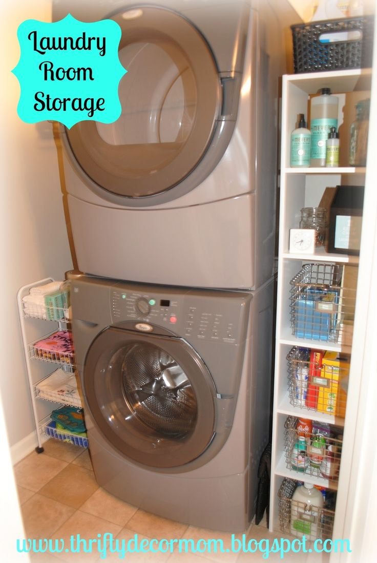 Thrifty Decor Mom: Project Laundry Room - The Reveal! Stacked washer and  dryer