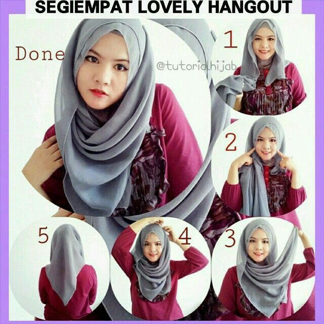Hijab Tutorials Cara Pakai Shawl Pinterest Tutorials