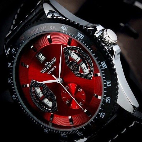 Mechanical Luxury Watch with Calendar Round Dial for Men