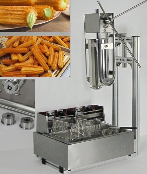 498.00$  Buy here - http://aiexa.worlditems.win/all/product.php?id=32596222073 - 5L Capactity Manual Churros Machine plus Working Stand and 12L Deep Fryer