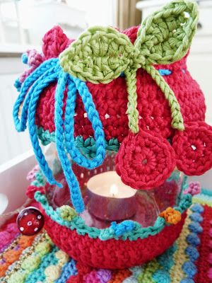 crochet jar, gehaakte pot