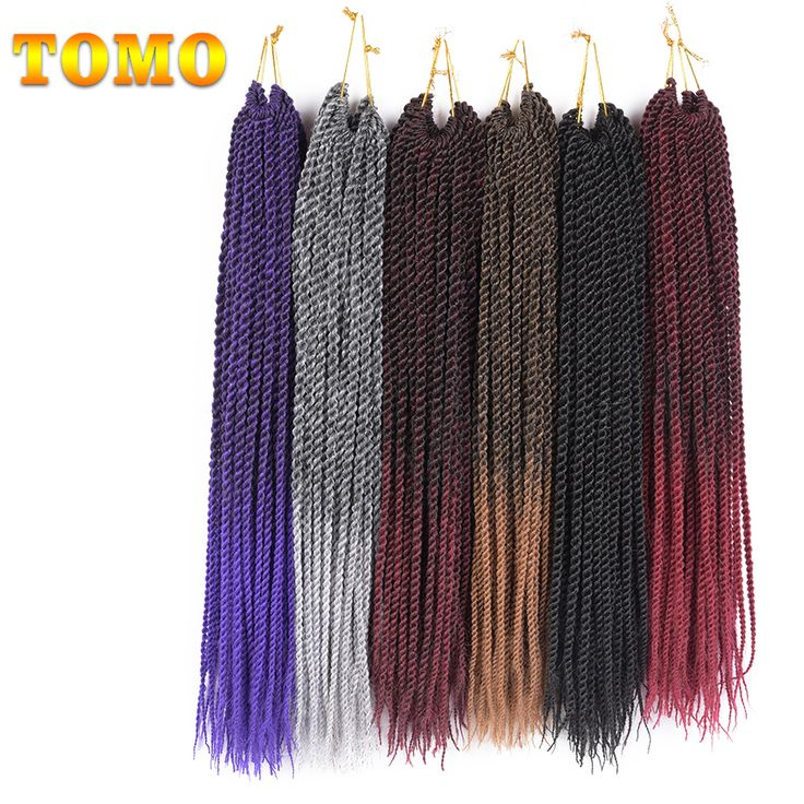 "TOMO Hair 30Roots/Pack 14"" 16"" 18"" 20"" 22""  Ombre Kanekalon Synthetic Hair Extensions Senegalese Twist Crochet Braids"