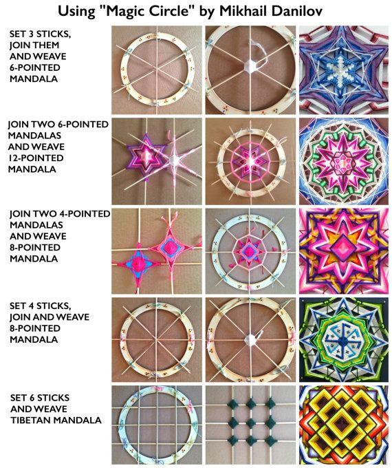 Magiques cercle 11 pouces 27cm Mandala Ojo-de-Dios tissage