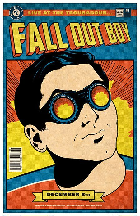Awesome Concert Posters | Fall Out Boy | 40 Awesome Concert Posters - Yahoo! Music